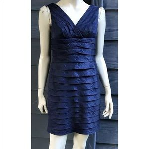 Adrianna Papell Petite Women Dress Sz 6P Blue Lind